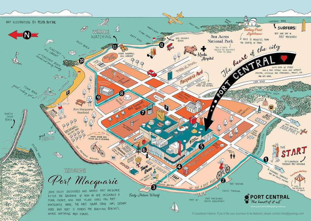 Map Port Macquarie Port Macquarie Map — Peita Blythe Map Port Macquarie