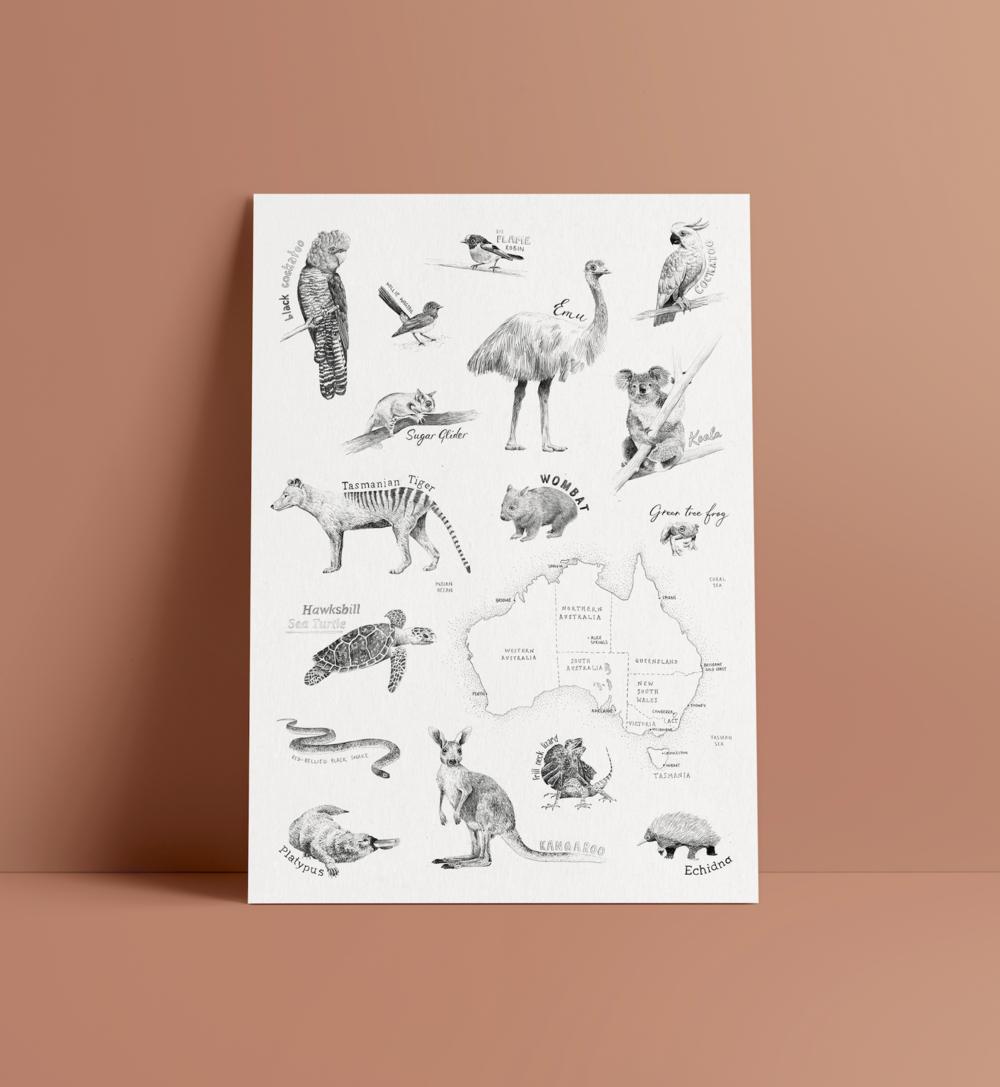 Peita Blythe_Australian Animal Poster.png