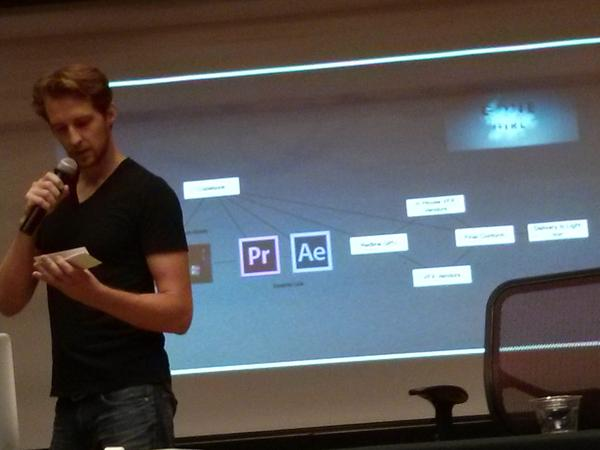 Assistant Editor Tyler Nelson describing the workflow