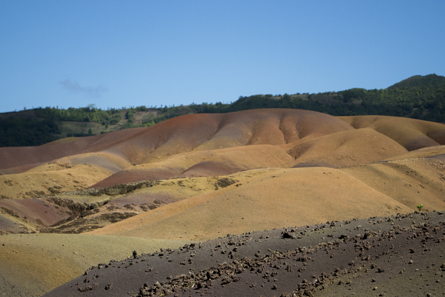 The 7-colored earth at Chamerel, formed by volcanic sediment