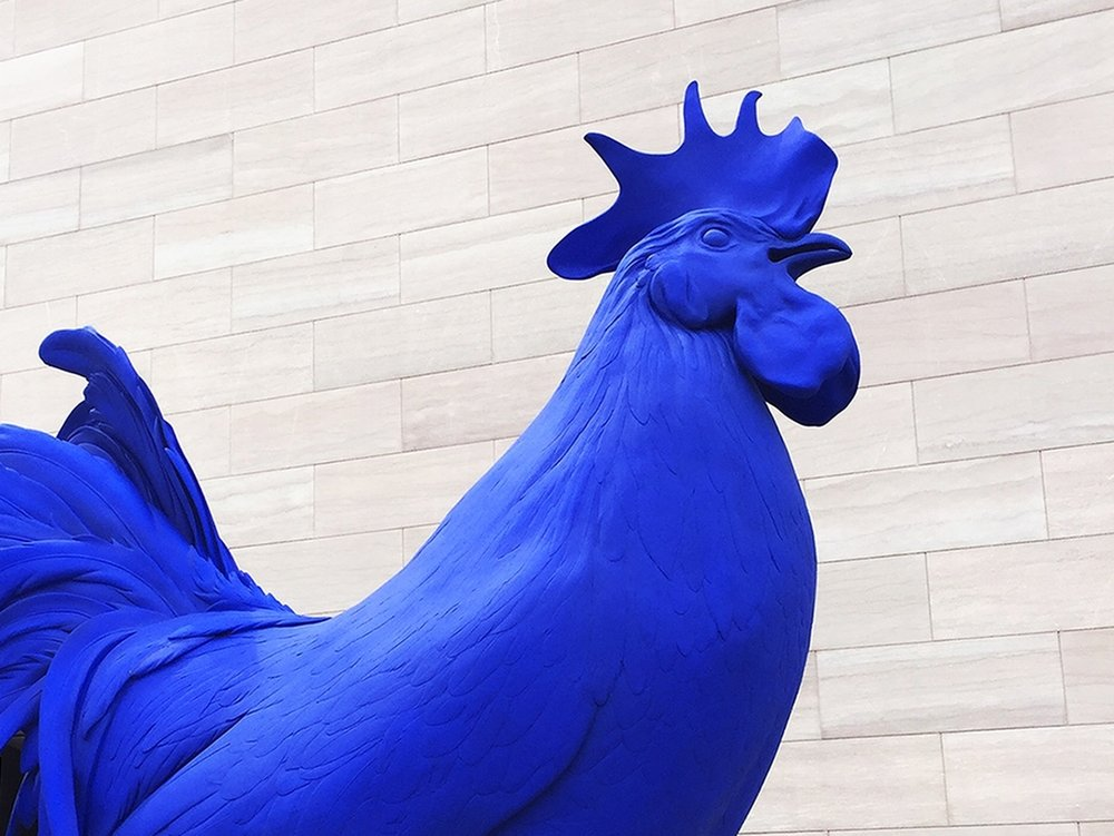Roof rooster: A favorite piece at the National Gallery of Art ( Artist: Katharina Fritsch )