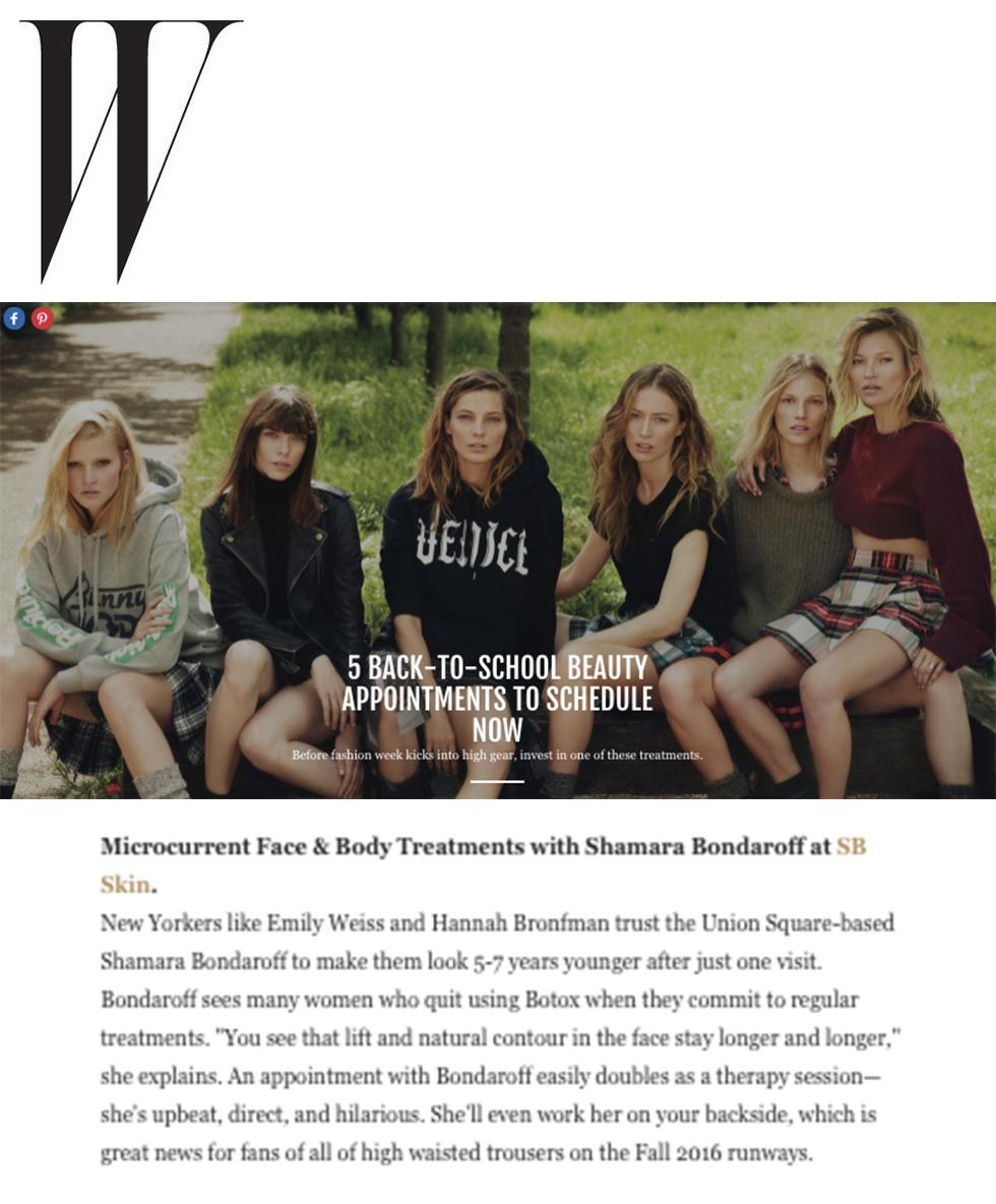 W Magazine | September 7, 2016