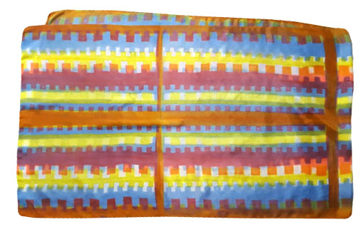"Teeth shibori  silk scarf 22"" x 72"""