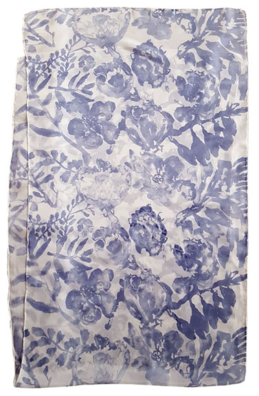 3. Watercolor Floral steel blue