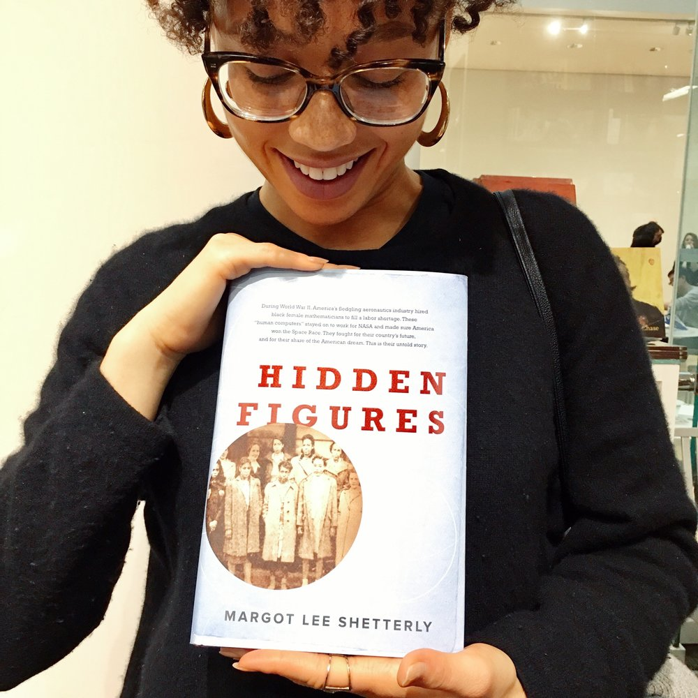 Finally got my copy of  hidden figures  while at the Boston MFA!