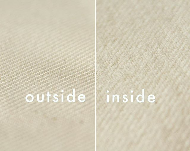 Have you felt an Ebb filter? It's as soft as flannel on the inside. Seem strange? Turns out that flannel finish really helps filter out more solids.  And did you know that the weave construction we use is a twill, same as denim? Your clothes and your filter have sooo much in common! 💛