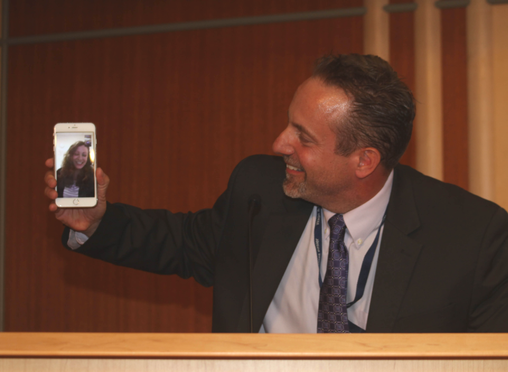 I wasn't able to physically attend the awards ceremony in Washington, DC but the IRS was able to include me digitally!  I joined via FaceTime to say hello to the crowd.
