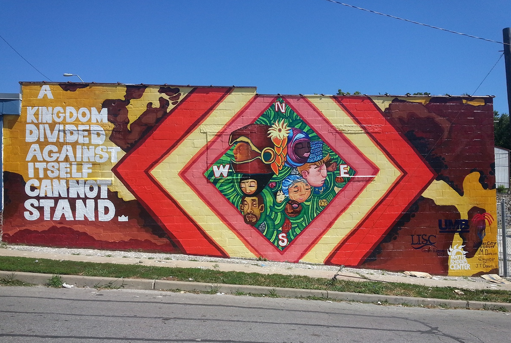 completed spirit of community mural project
