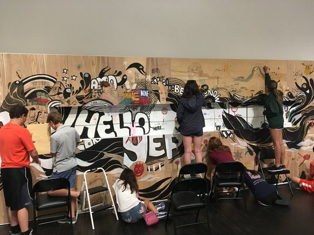 students creating epsten gallery residency
