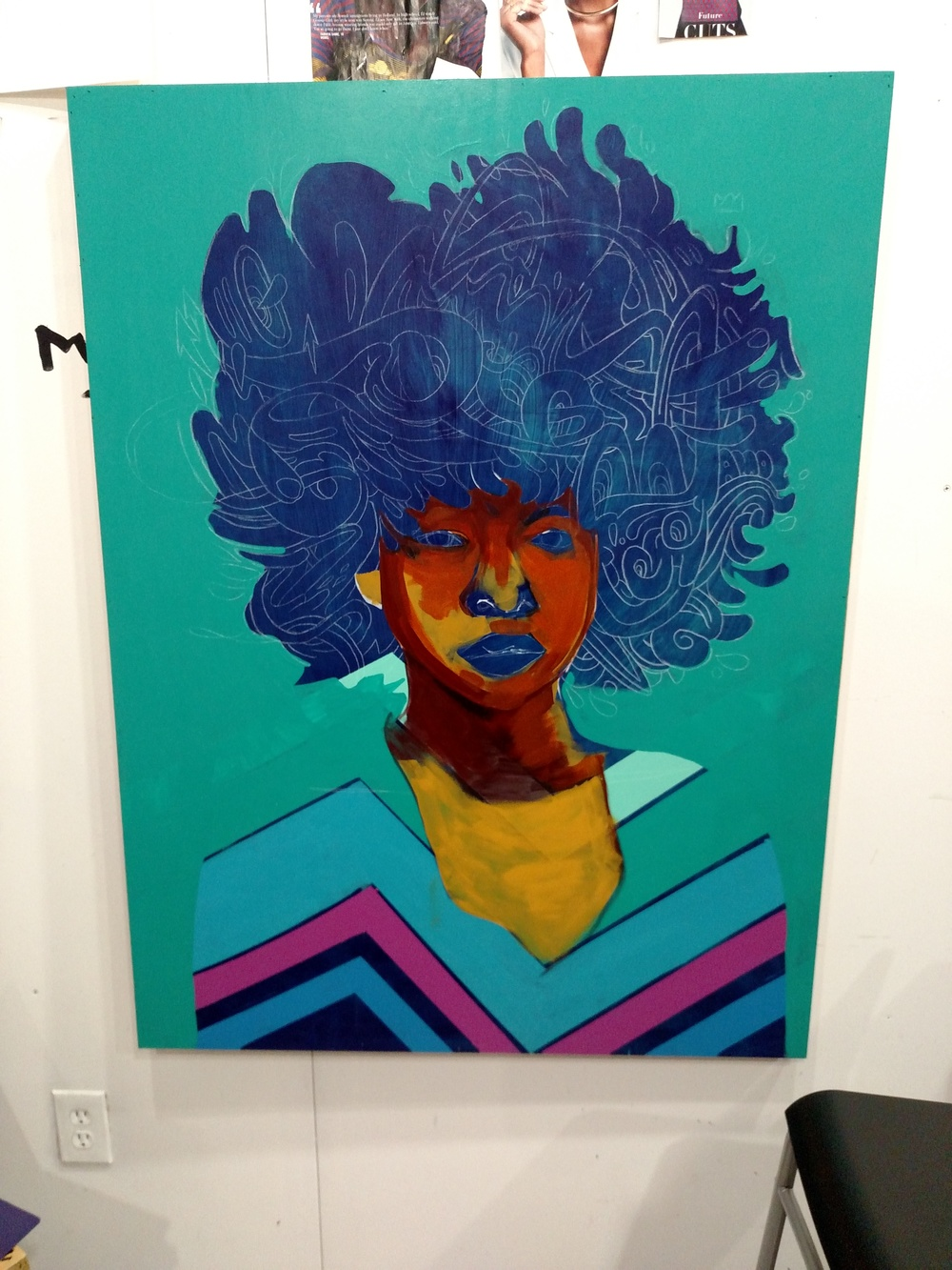 Fro Painting progress pic 2. Jtdanielsart