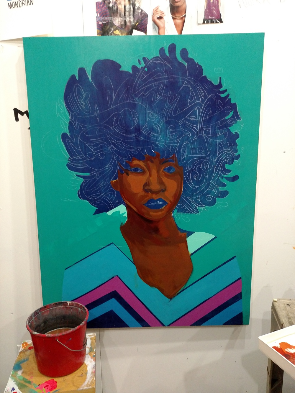 Fro Painting Progress Pic 3. jtdanielsart