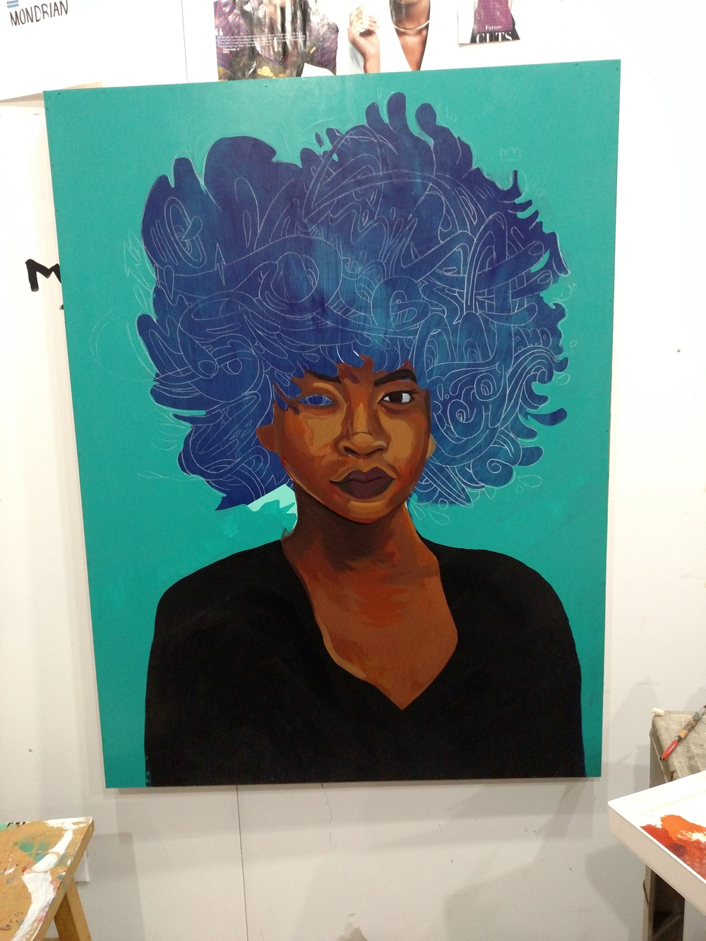 Fro Painting Progress Pic 4.jtdanielsart