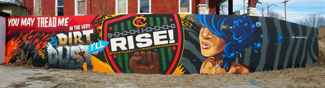 Rise Mural, 5th & Troup, KCK 66114, 2014