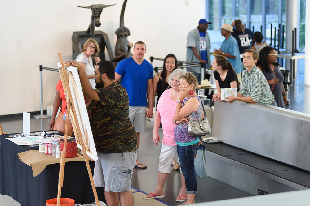 Live Painting during Third Thursdays at the Nelson Atkins Art Museum, 2016