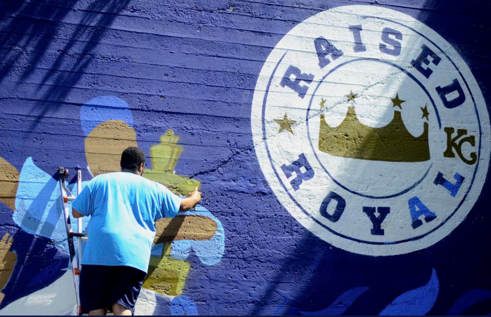 JT Painting the Royals Mural_JTDaniels_2017