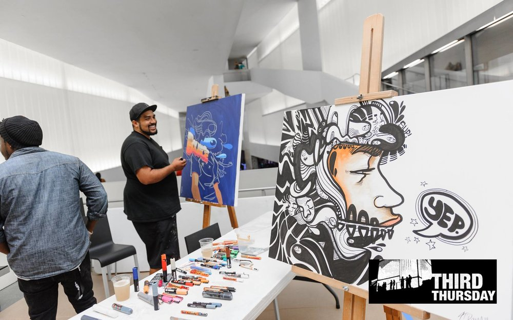 Live Painting at the Nelson Atkins Museum for September's Third Thursday's event: Pop-Lock-Bloch it, 2017