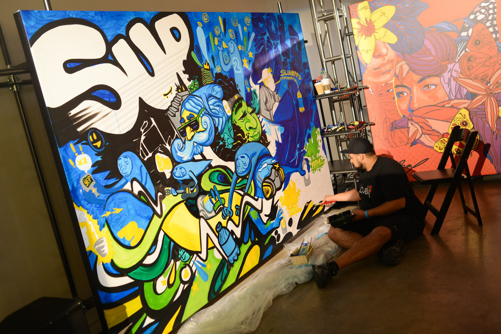 """Live Mural Painting in LA for the BRISK """"Unmasked Studios"""" Release"""