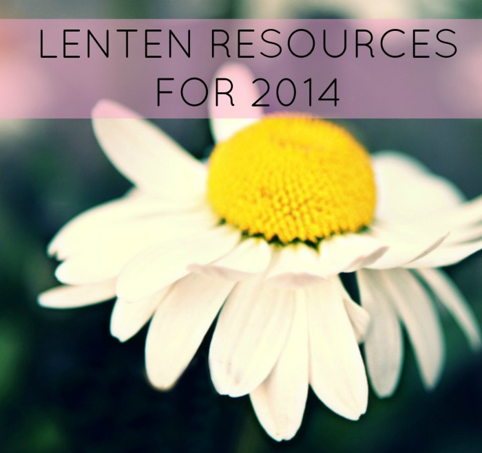 LENTEN resources for 2014