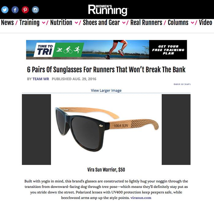 Vira Sun Featured in Women's Running