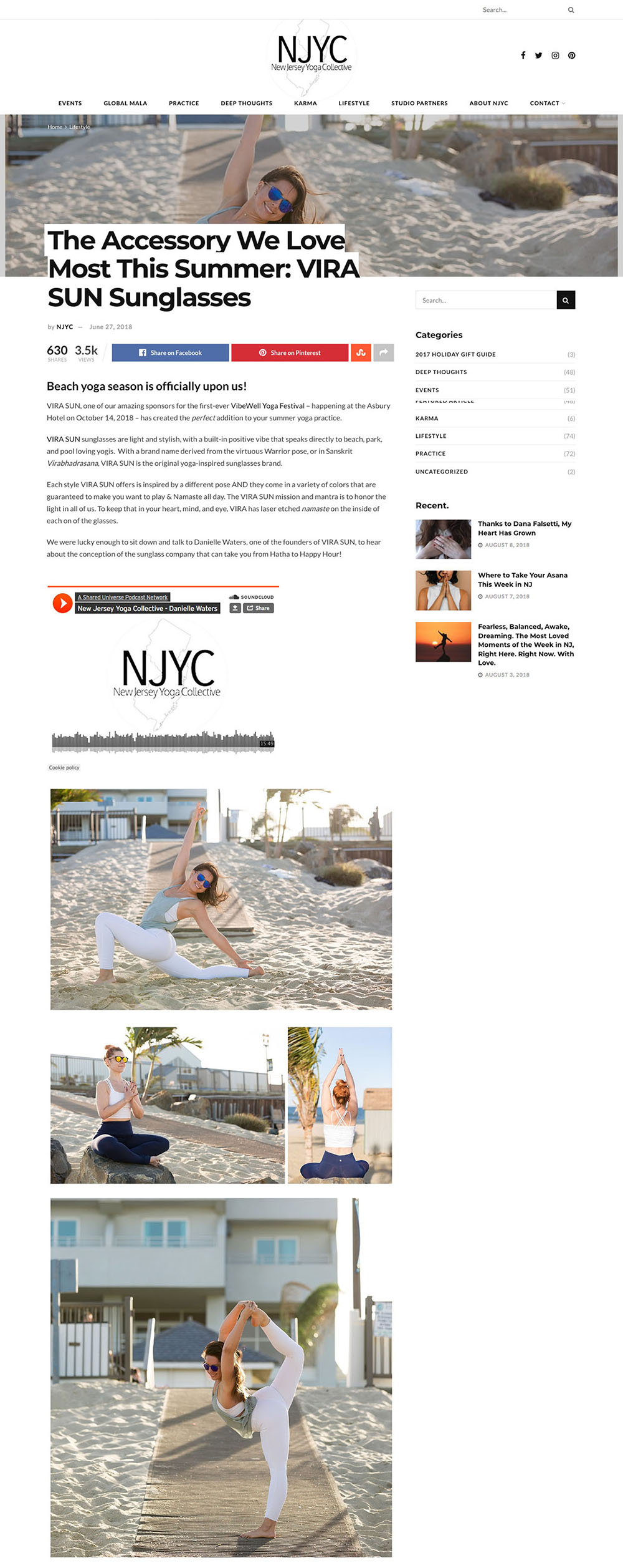 Vira Sun x NJ Yoga Collective