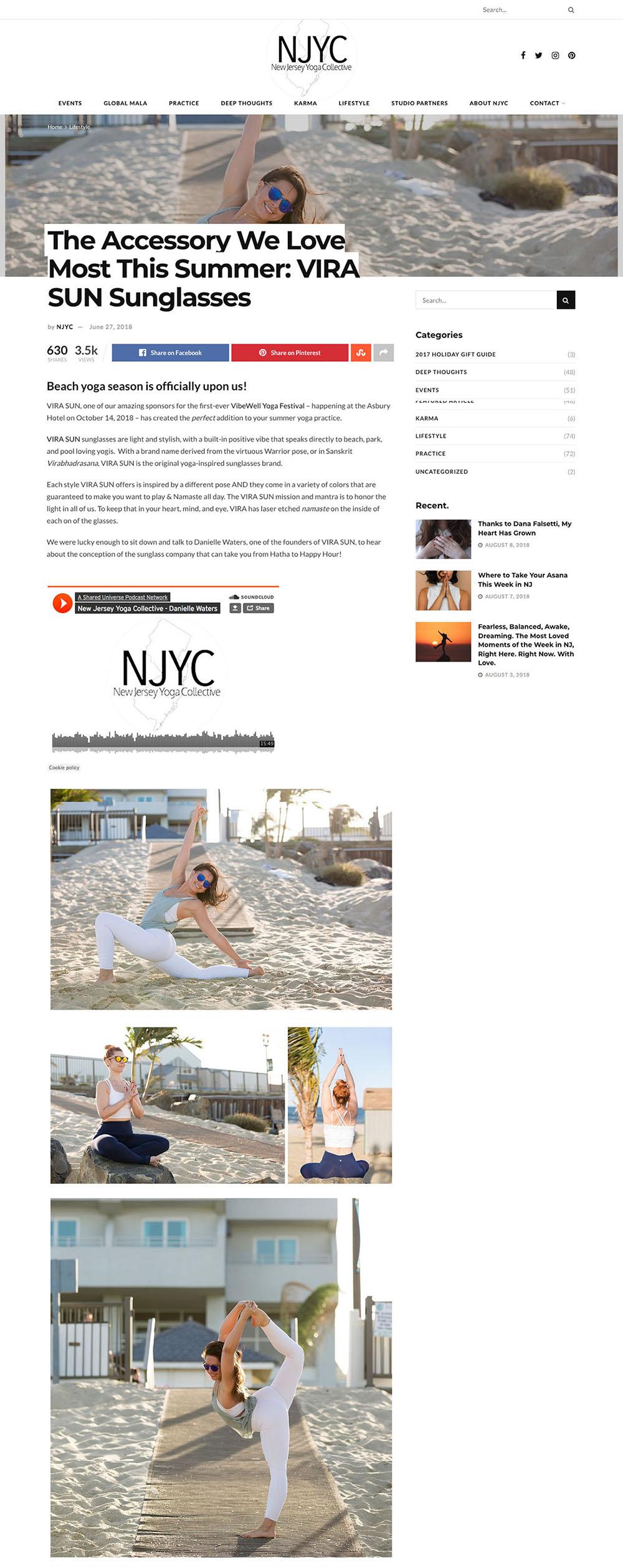 Vira Sun x NJ Yoga Collective