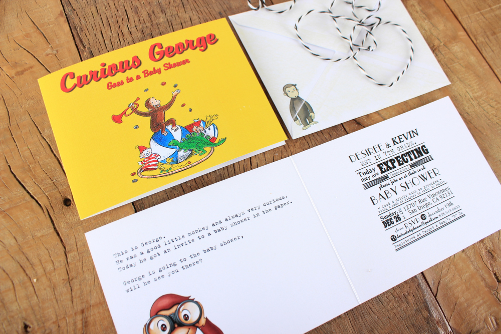 curious george invite for personal use only
