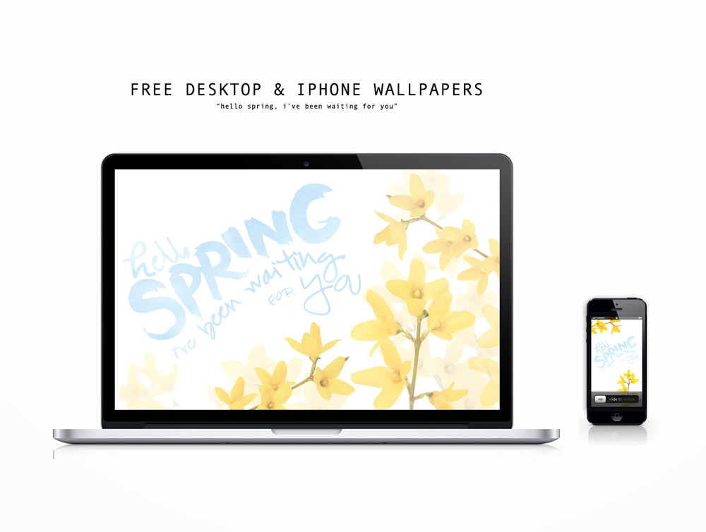 Free Spring Desktop and iPhone Wallpaper