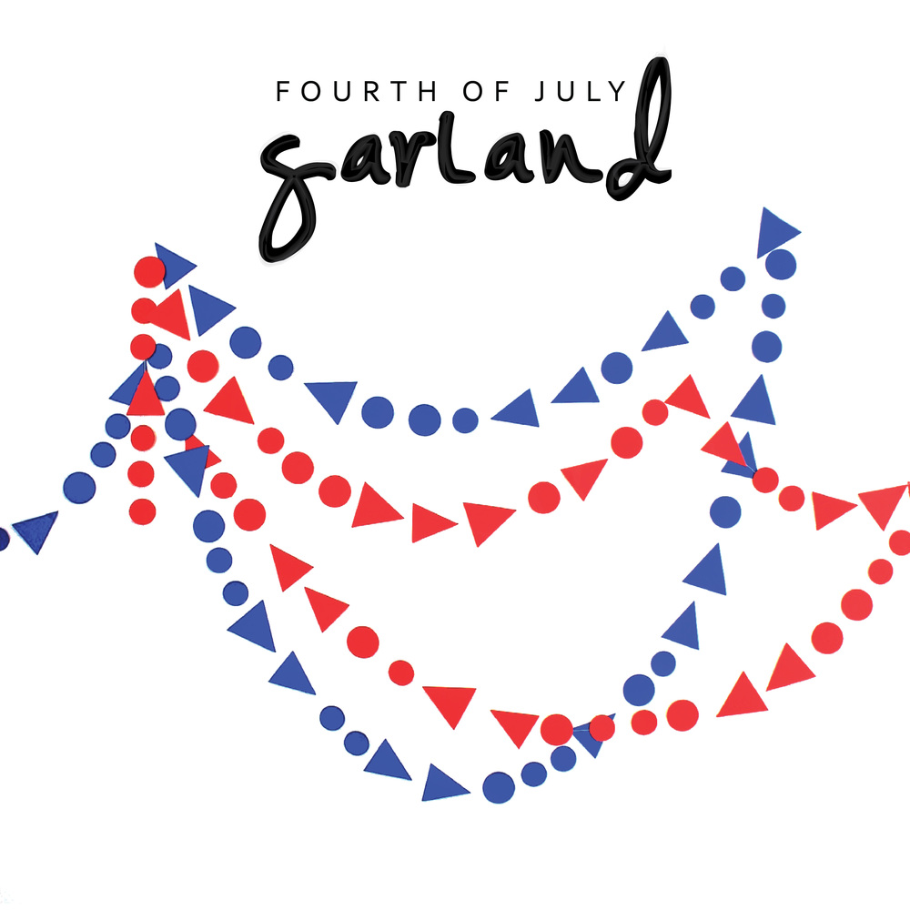 DIY July 4th Garland