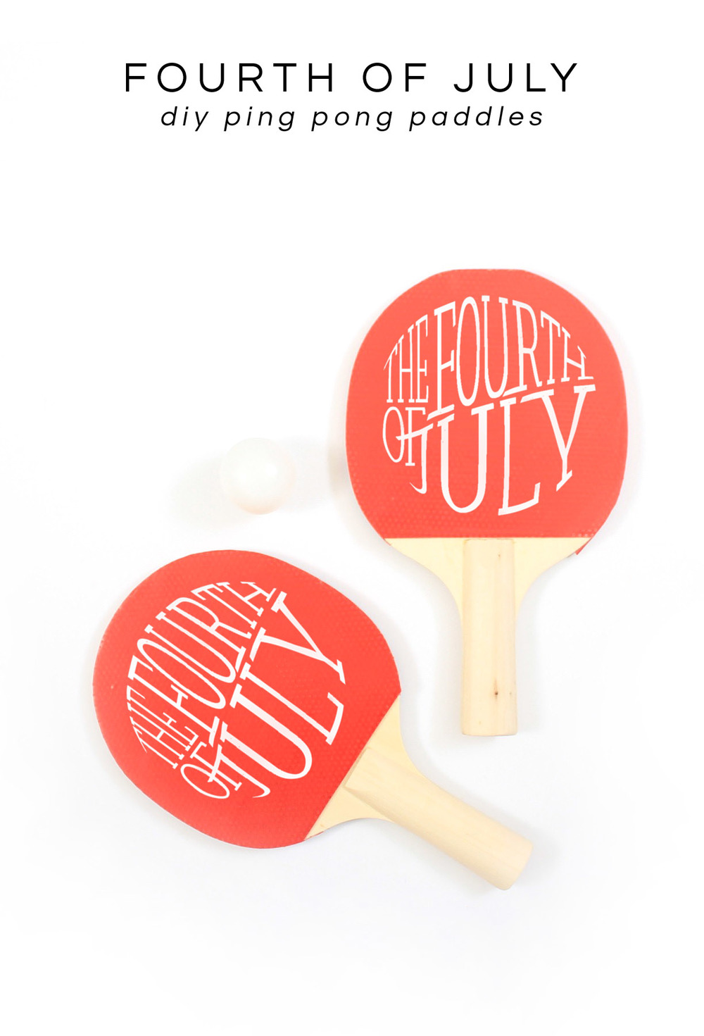 DIY fourth of july ping pong