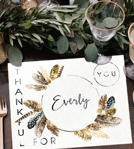 Thanksgiving Table Placemats