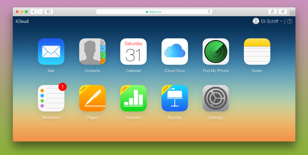 Apple's palette on iCloud. It looks pretty similar to a default Photoshop gradient.