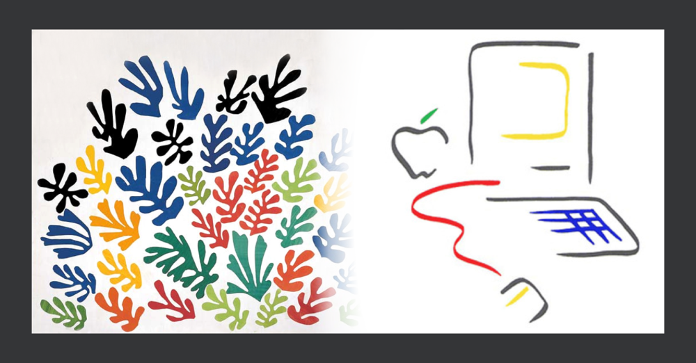 La Gerbe by Matisse (1953) and Macintosh advertising (1984).