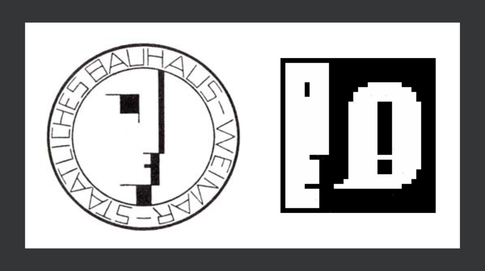 Oskar Schlemmer's Bauhaus Emblem (1922) provided  inspiration  for Susan Kare's Macintosh notification icon (1984).
