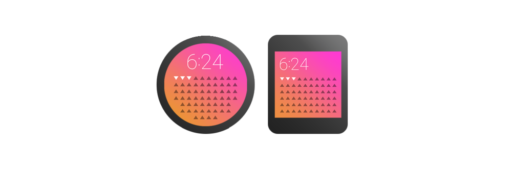 Google approves of the same repulsive palettes as Apple and Microsoft. These are from the  Android Wear  line of watch interfaces.