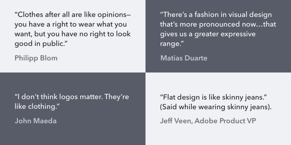 Who cares about visual design? After all, according to OS makers, it is 'just fashion.'