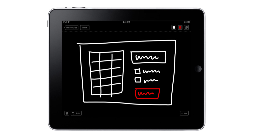 Jason Fried's sophisticated Draft app for iPad, ideal for kindergarteners.