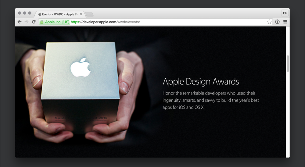 Apple doesn't recognize designers in the Apple Design Awards, but instead honors developers.