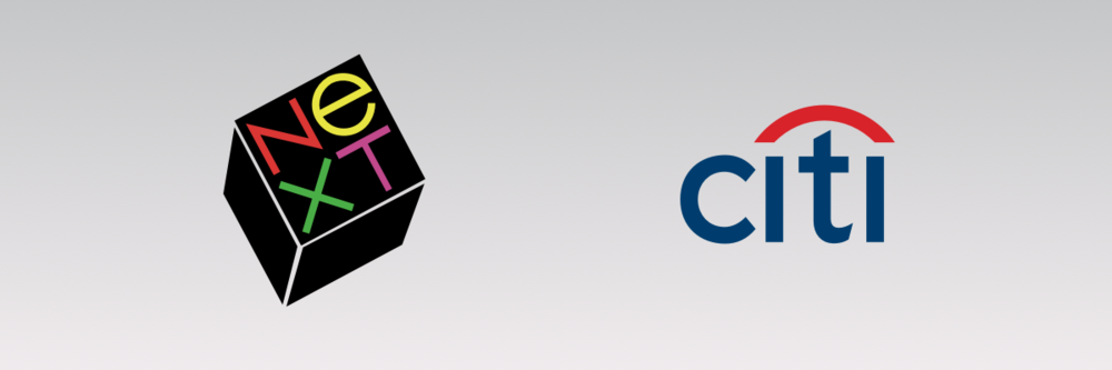 Paul Rand's NeXT logo and Paula Scher's Citi logo.
