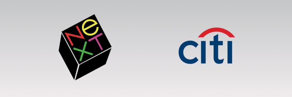 Paul Rand's NeXT logo and Paula Scher's Citi logo.