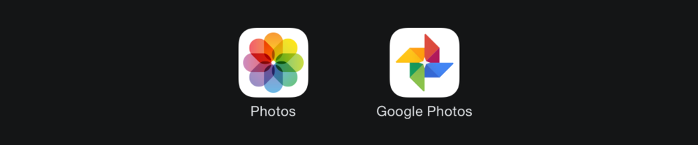 iOS Photos app (2013) and Google Photos (2015).