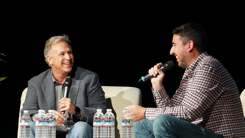 Phil Schiller and John Gruber.  Photo by  Marco Arment  .
