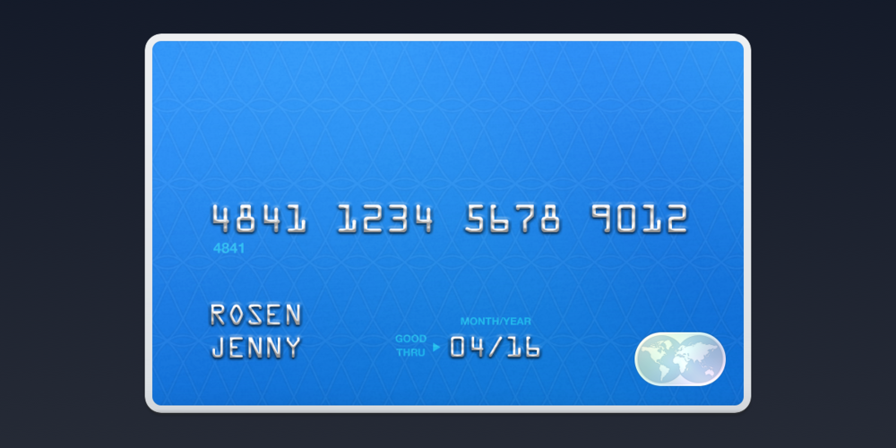Stripe payments credit card illustration.