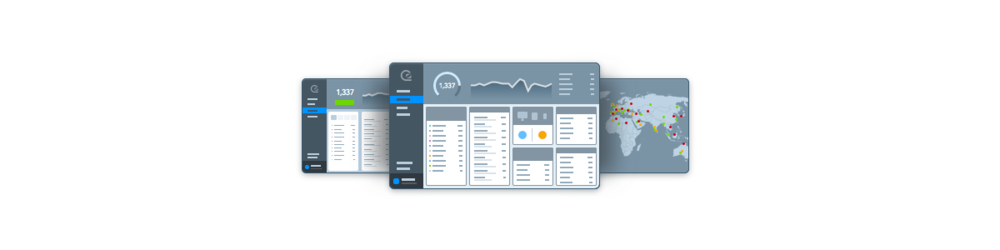Illustration of the GoSquared dashboard.