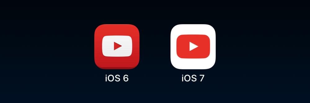 YouTube's white icon.