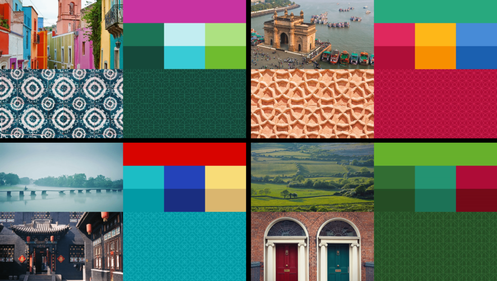 The diverse palettes and patterns Uber will be creating.