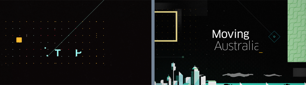 More stills from the FITC animation on left and from the Uber reveal on right.