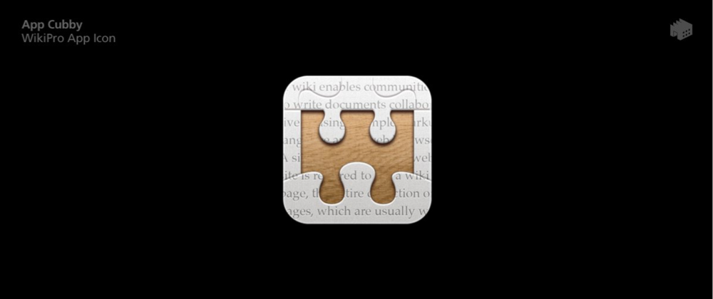 This Iconfactory-designed icon for David Barnard's unreleased WikiPro app had never been revealed until recently. It's too bad the app never saw the light of day.