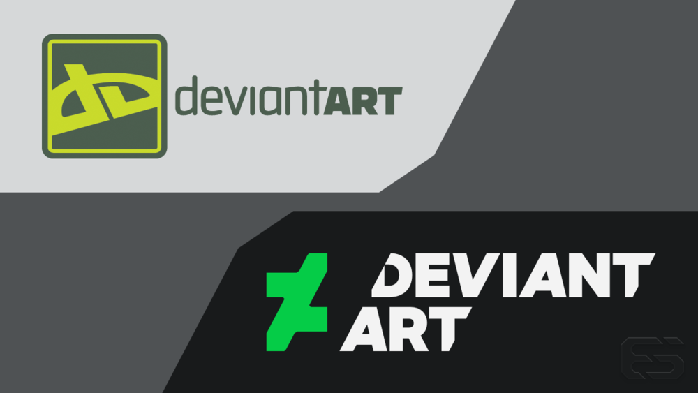 The old and new DeviantArt lockups.