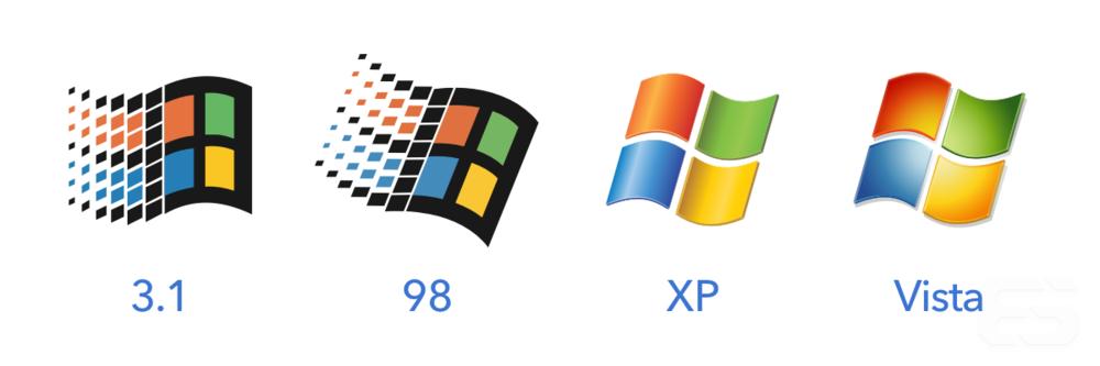 """Windows flag logos, otherwise known as """"Progress Marks."""""""