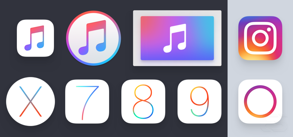 Apple's vibrancy inspired Instagram.
